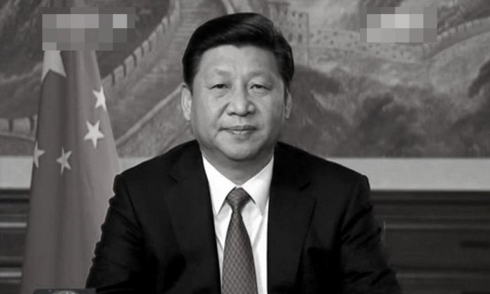 Xi Jinping gave a New Year's address to the nation with a background setting imitative of an American President. Experts say that he is simultaneously expanding his control inside the Party. (Screenshot/netease.com/Epoch Times)