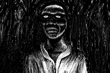 Illustration of a zombie in a sugar cane field in Haiti. (Jean-Noël Lafargue)