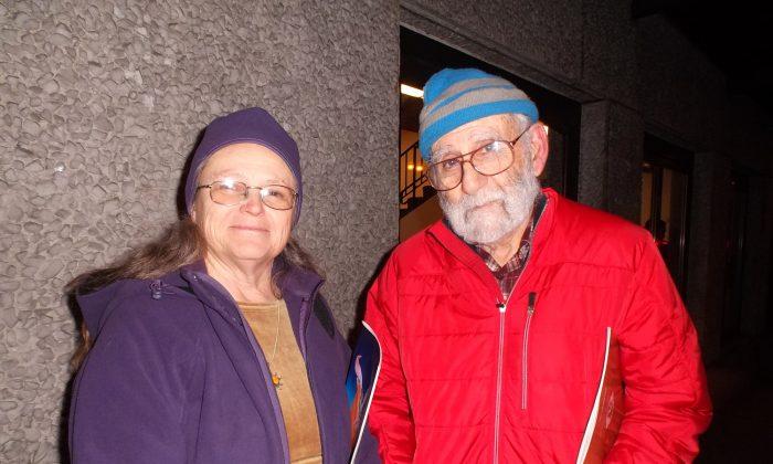 Darlene and Sam Chirman at the Keller Auditorium on opening night. (Epoch Times)