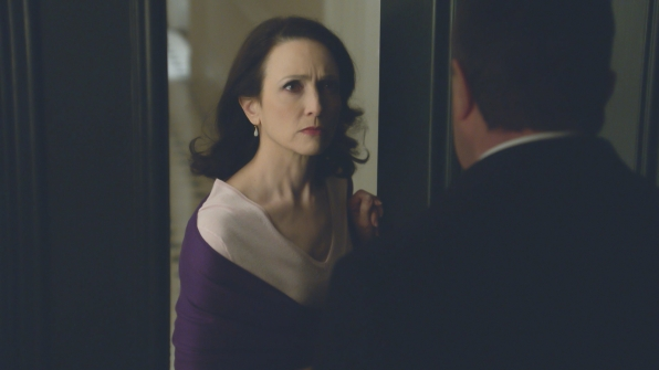 """Bebe Neuwirth as Kelly Peterson and Tom Selleck as Frank Reagan on """"Blue Bloods."""" (CBS Broadcasting Inc)"""
