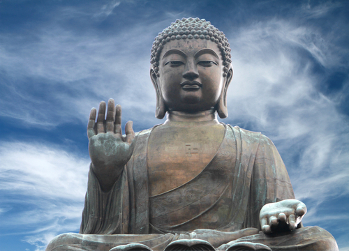 The Buddha statue on Lantau Island in Hong Kong.   Buddha taught that true compassion is letting go of the self and putting others first. Now new research shows that selfless love—a deep and genuine wish for the happiness of others—actually turns off the brain's reward centers. *(Shutterstock.com)