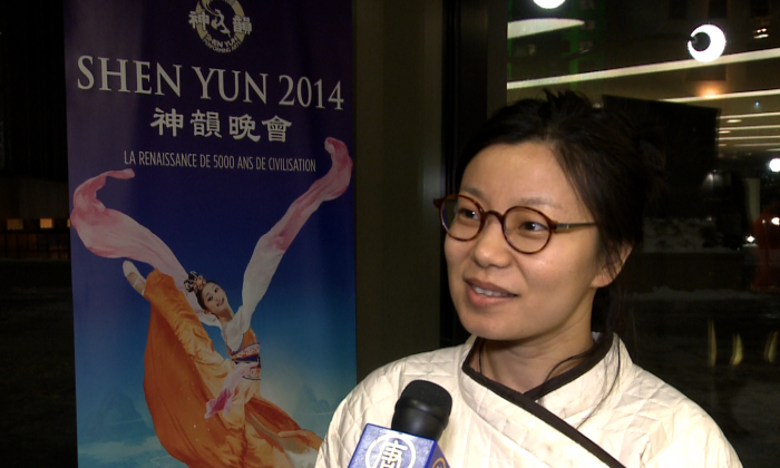 Having wanted to see Shen Yun for two years, Aiqi Li finally attended a performance at Place des Arts in Montreal on Jan. 7, 2014. (Courtesy NTD Television)