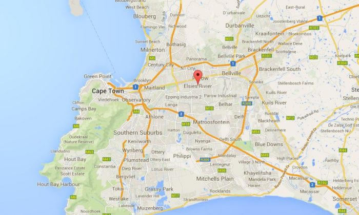A screenshot of Google Maps shows Elsies River in Cape Town, South Africa