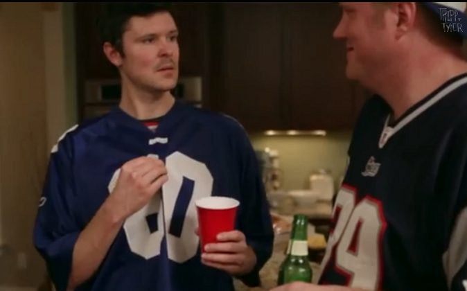 3. If you are not teenager, the time has passed for the oversized NFL jersey. (YouTube/TrippandTyler)