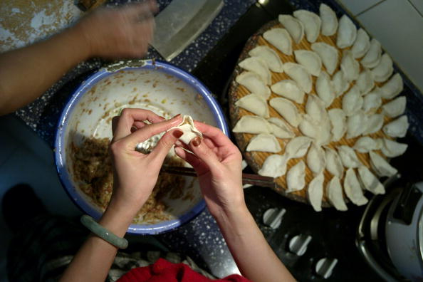 Dumplings for the Chinese New Year. (China Photos/Getty Images)
