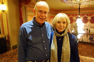Guy Papenhausen and Gail Cox at Shen Yun Performing Arts at the Tennessee Theatre in Knoxville, Tenn., on Jan. 7 (Mary Silver/Epoch Times)