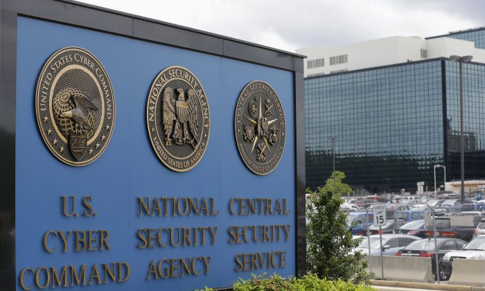 The sign outside the National Security Agency (NSA) campus in Fort Meade, Md., on June 6, 2013. (AP Photo/Patrick Semansky)