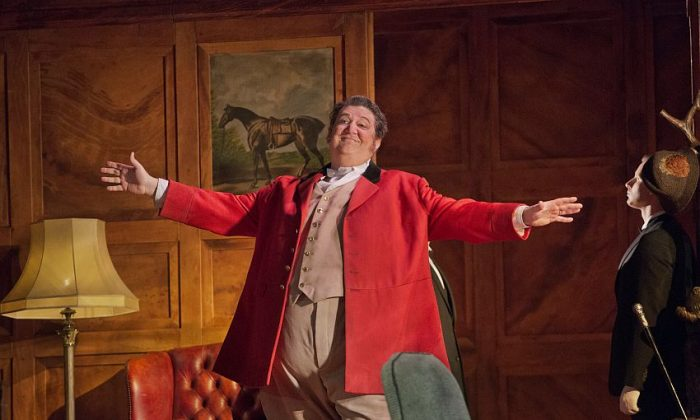 "Ambrogio Maestri in the title role of Verdi's ""Falstaff."" (Ken Howard/Metropolitan Opera)"