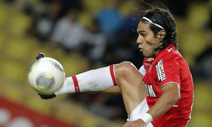 Monaco's Radamel Falcao (AP Photo/Lionel Cironneau, File)