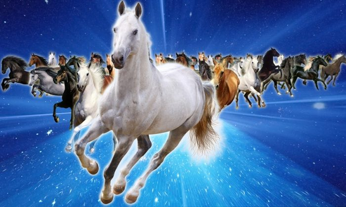 Horses galloping toward victory in a year that promises unexpected adventures! (Jade Wang/Epoch Times)