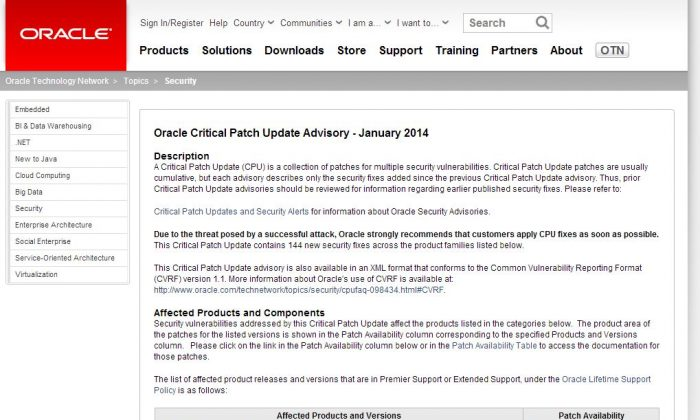(Screenshot/Oracle)