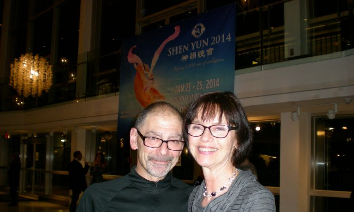 Jim and Debra Soloway were thrilled with the Shen Yun performance they attended at the Queen Elizabeth Theatre in Vancouver on Jan. 24, 2014. (Ryan Moffatt/Epoch Times)