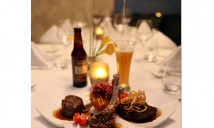 Special meat sampler dish at La Brochette, an upscale kosher steakhouse and sushi lounge. (Courtesy of La Brochette)