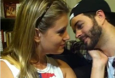 A screenshot of a Vine video from last year shows Jessi Smiles and Curtis Lepore. (Screenshot/Vine)