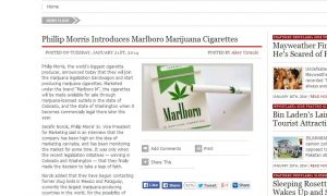 Marlboro M? Philip Morris Marlboro Marijuana Cigarettes 'Report' is a Hoax