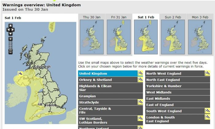 (Met Office screenshot)