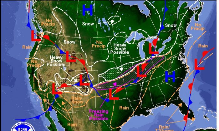 The forecast for Friday and Saturday (National Weather Service)