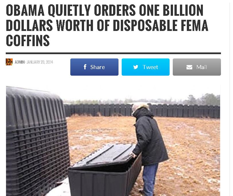 Obama Orders One Billion Dollars Worth Of Disposable Fema Coffins