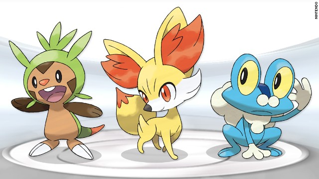 Starter Pokemon for Pokemon X and Pokemon Y