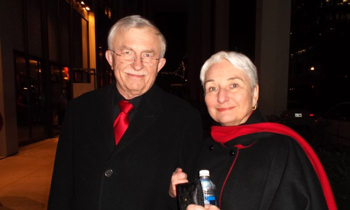 Robert and Cynthia Stadel appreciated the sharing of Chinese traditional culture at Shen Yun Performing Arts at Portland's Keller Auditorium on Jan. 17. (Chen Si/Epoch Times)