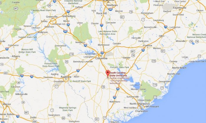 A screenshot of Google Maps shows South Carolina State University.