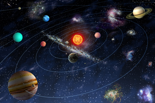 A diagram of the solar system. (Shutterstock*)