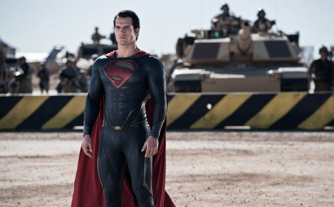 "Superman (Henry Cavill) in the action-adventure film ""Man of Steel."" Cavill will be Superman in Batman vs. Superman, which had a release date in 2015, but that date has been pushed back to 2016. (Clay Enos/Warner Bros. Pictures)"
