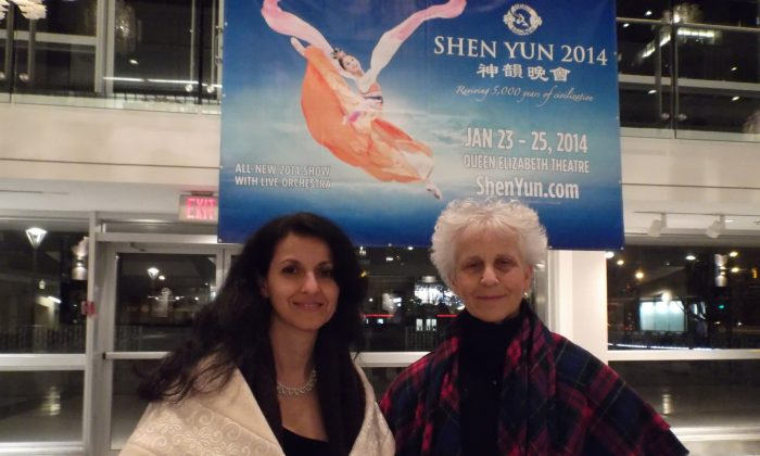 Friends Hilda Terzian and Margit were among those who attended Shen Yun's final performance for 2014 at the Queen Elizabeth Theatre in Vancouver on Jan. 25, 2014. (Epoch Times)