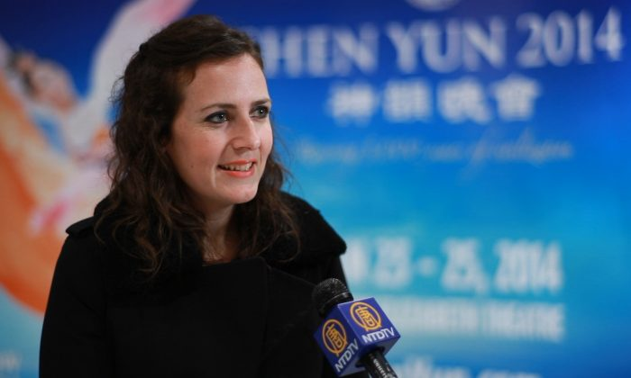 Jill George enjoyed Shen Yun Performing Arts at the Queen Elizabeth Theatre in Vancouver on Jan. 26, 2014. (Epoch Times)