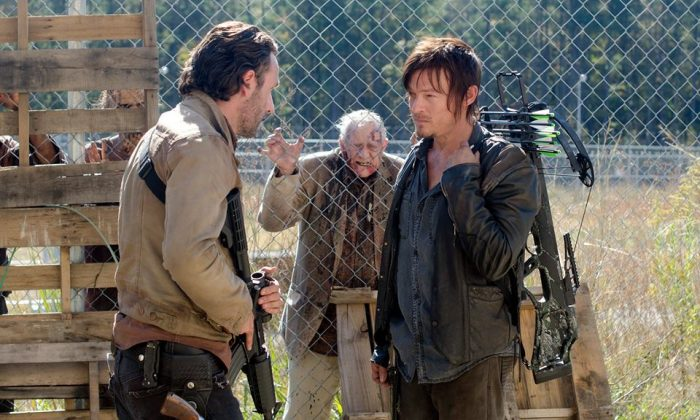 Rick and Daryl before they left the prison earlier in season 4. (Gene Page/AMC)