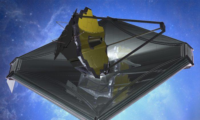 An artist's impression of the James Webb Space Telescope. (Northrop Grumman)