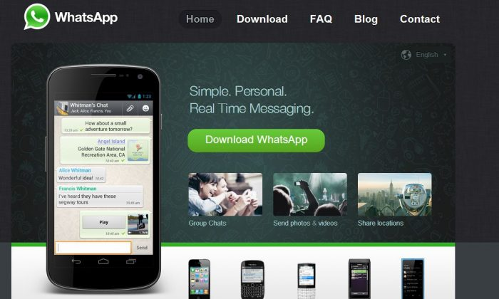(Screenshot/WhatsAPP website)