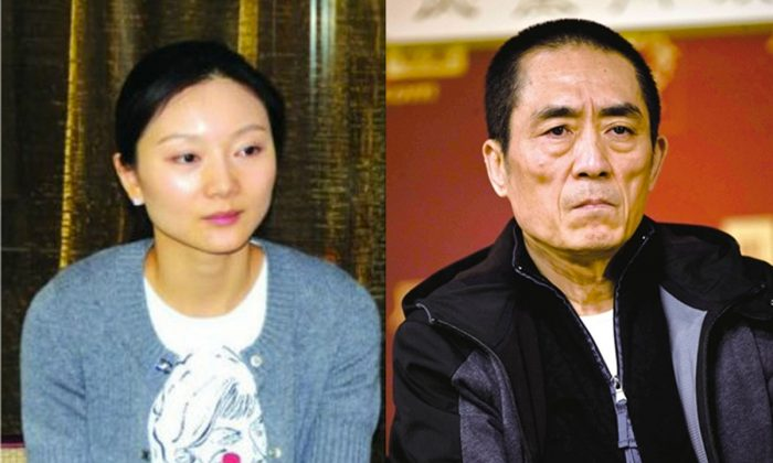 Chinese authorities have fined Chinese film director Zhang Yimou (R) and his wife Chen Ting (L) $1.23 million because they breached the one-child policy, according to an official announcement on Jan. 9. Zhang and Chen gave birth to three children before they married in 2011. (Epoch Times)