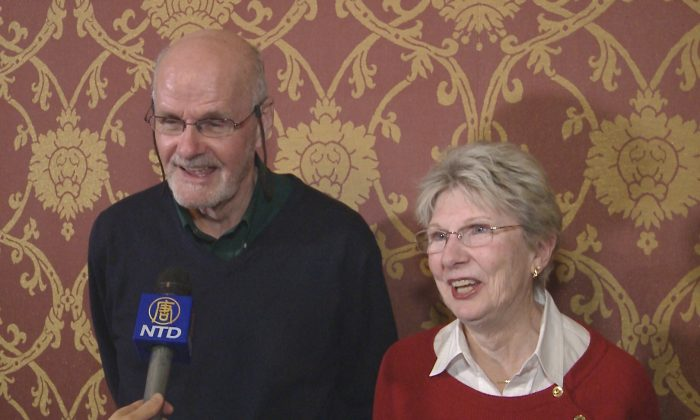 Tom and Elaine Sullivan attend Shen Yun Performing Arts at the Providence Performing Arts Center in Providence, R.I., on Feb. 23, 2014. (Courtesy of NTD Television)