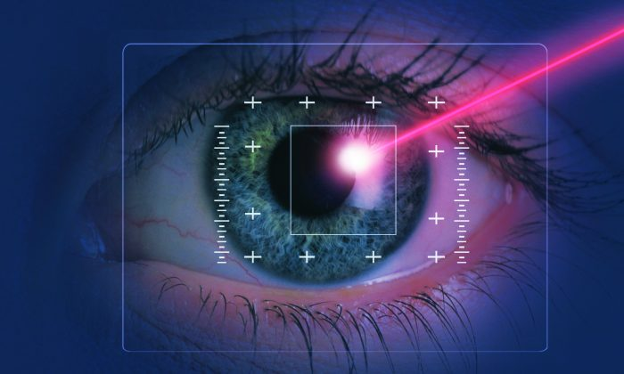 Refractive laser eye surgeries reshape the cornea with the use of a laser to improve vision. (Comstock/photos.com)