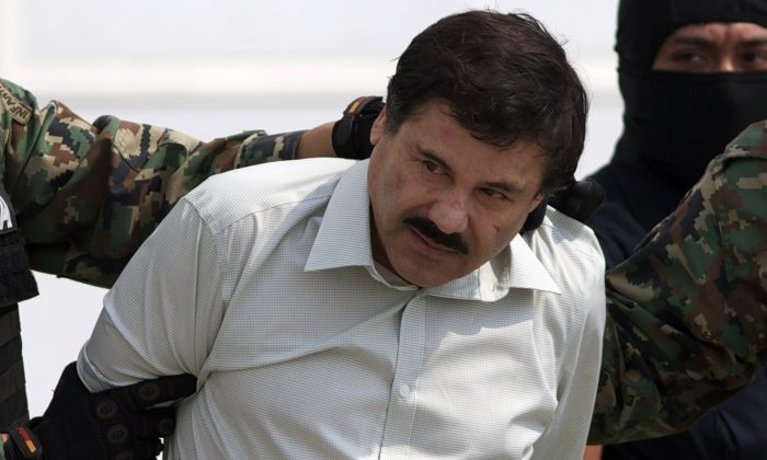 "Joaquin ""El Chapo"" Guzman, pictured above was arrested Saturday in Sinaloa State in Mexico. A fake news article claimed a man named 'Gregorio Chavez' was actually arrested. (AP Photo/Eduardo Verdugo)"