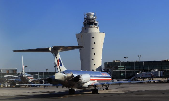 A view of the old controller tower at LaGuardia airport on December 8, 2010. (Bruce Bennett/Getty Images)