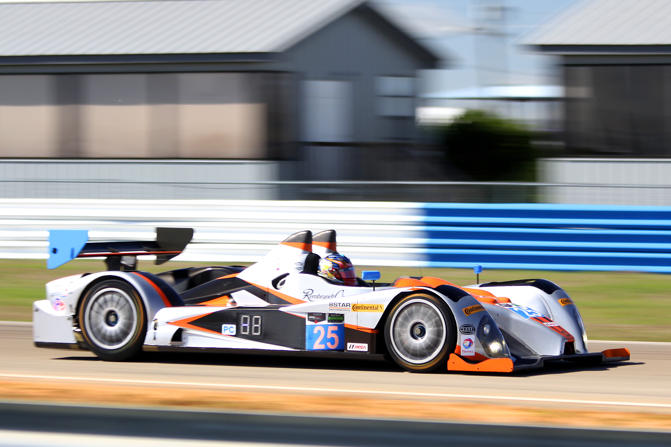 The #25 8Star Oreca Chevrolet was quickest in PC even though it crashed at Turn Seven halfway through the first sessions. (Chris Jasurek/Epoch Times)