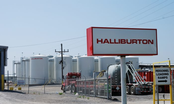 A Halliburton facility in Port Fourchon, Louisiana is seen on April 8, 2011. (Mira Oberman/AFP/Getty Images)