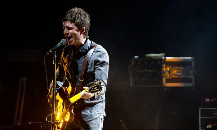 Noel Gallagher of Noel Gallagher's High Flying Birds performs at the Academy of Music November 11, 2011 in Philadelphia, Pennsylvania. (Photo by Jeff Fusco/Getty Images)
