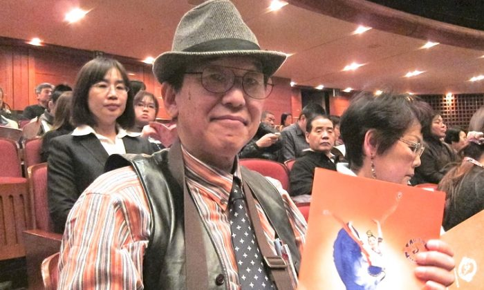 Mr. Toshiaki Ido, a costume designer, attends Shen Yun Performing Arts on the afternoon of Feb. 6. (Lu Yong/ Epoch Times)