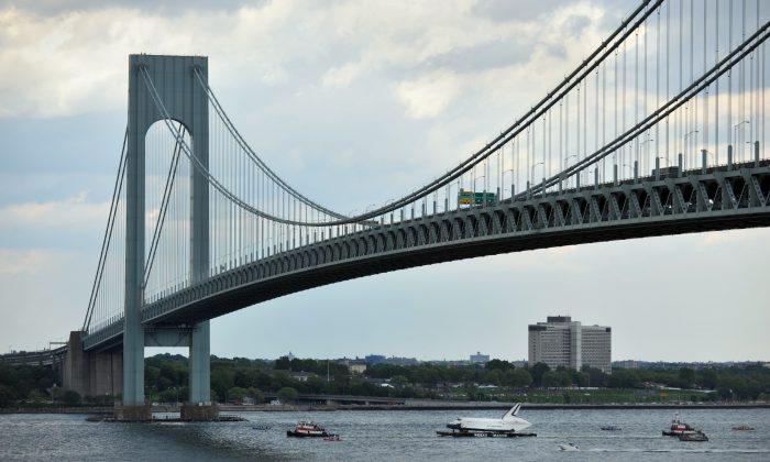 The Verrazano-Narrows Bridge in New York, June 3, 2012. (Stan Honda/AFP/GettyImages)