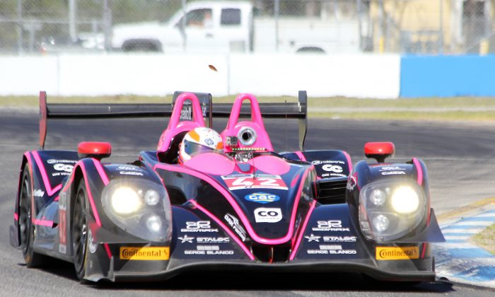 The #42 P2 Oak Racing Morgan-Nissan was quickest in the morning at the first session of the TUSC Winter Test. (Chris Jasurek/Epoch Times)