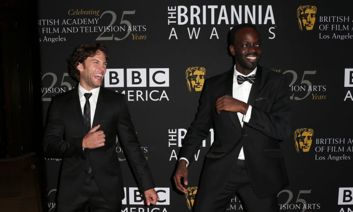 Actors Kyle Schmid and Ato Essandoh arrive at the 2012 BAFTA Los Angeles Britannia Awards Presented By BBC AMERICA at The Beverly Hilton Hotel on November 7, 2012 in Beverly Hills, California. (Photo by Frederick M. Brown/Getty Images)