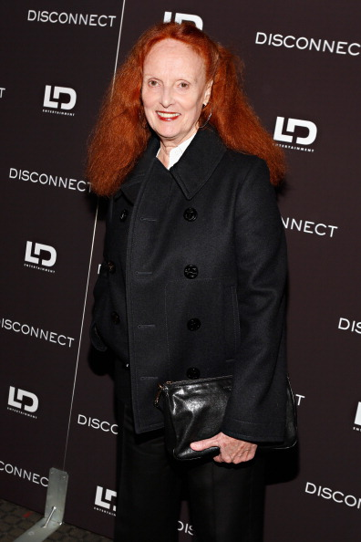 "Creative director, US Vogue, Grace Coddington attends the ""Disconnect"" New York Special Screening at SVA Theater on April 8, 2013 in New York City.  (Photo by Cindy Ord/Getty Images)"