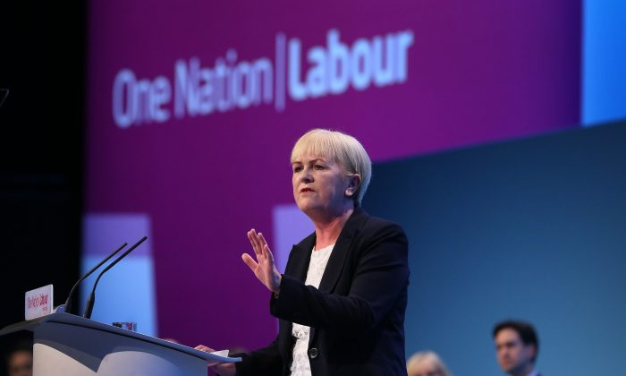 Johann Lamont, leader of the Scottish Labour party speaks at the Labour Party Conference on September 22, 2013 in Brighton, England. The opposition Labour Party are holding their annual conference in the southern English coastal town for the next four days. (Peter Macdiarmid/Getty Images)