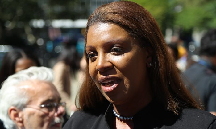 "File photo of New York City Public Advocate Letitia ""Tisch"" James, Sept. 19, 2013. (Christian Watjen/Epoch Times)"