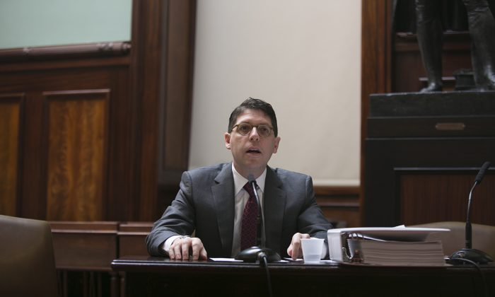 Mark Peters, commissioner of the New York City Investigations Department, testifies before the Committee on Rules, Privileges and Elections at New York City Hall, on Jan. 29, 2014. (William Alatriste/NYC Council)