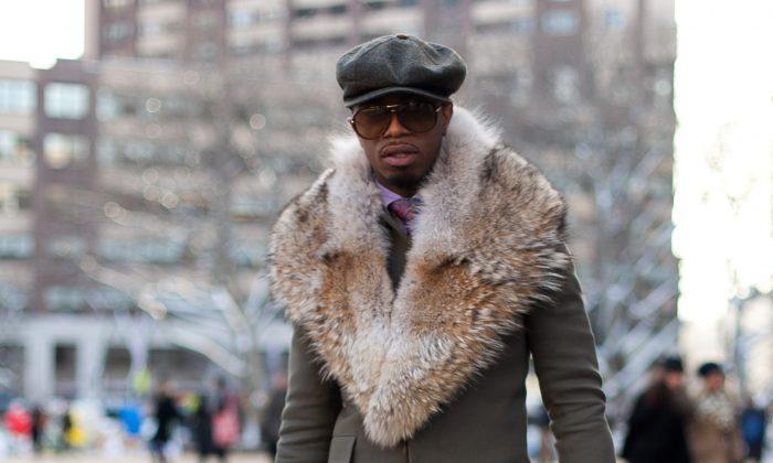 Rasheem Wilkins during New York Fashion Week in New York on Feb. 6, 2014. (Samira Bouaou/Epoch Times)