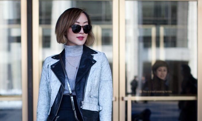 Chriselle Lim during New York Fashion Week in New York on Feb. 6, 2014. (Samira Bouaou/Epoch Times)